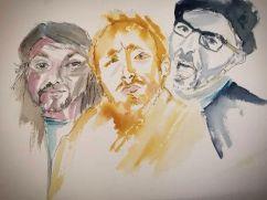 Les 3 Triplés croqués par Régine Galland