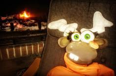 Richie le Renne au coin du feu